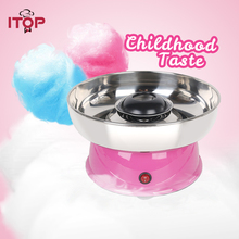 ITOP Electirc cotton candy maker Candyfloss Making Machine Cotton Sugar Candy Floss Maker Fancy art Cloud Party Pink DIY