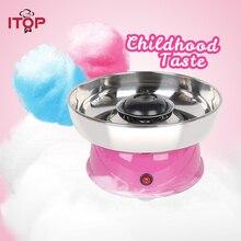 ITOP Electirc cotton candy maker Candyfloss Making Machine Cotton Sugar Candy Floss Maker Fancy art Candy Cloud Party Pink DIY
