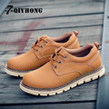 QIYHONG Brand 2016 New Autumn And Winter Outdoor Work Clothes Shoes Fashion Leather Men'S Shoes Wear Non-Slip Casual Shoes