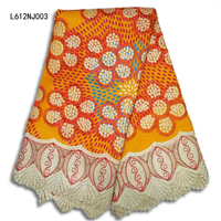 African Cotton And Nylon Material Wax Fabric Guipure Lace Fabric Popular Design Wax Lace Fabric 6