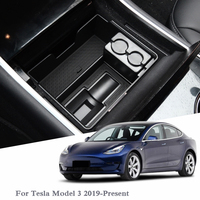 For Tesla Model 3 2019 Present LHD Car Styling Car Center Console Armrest Storage Box Cover Interior Decoration Auto Accessories