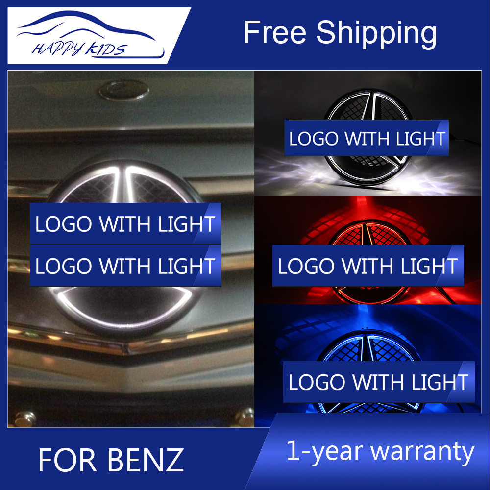 Car styling For Mercedes Benz led emblem light for W204 C class COUPE C350 C250 led