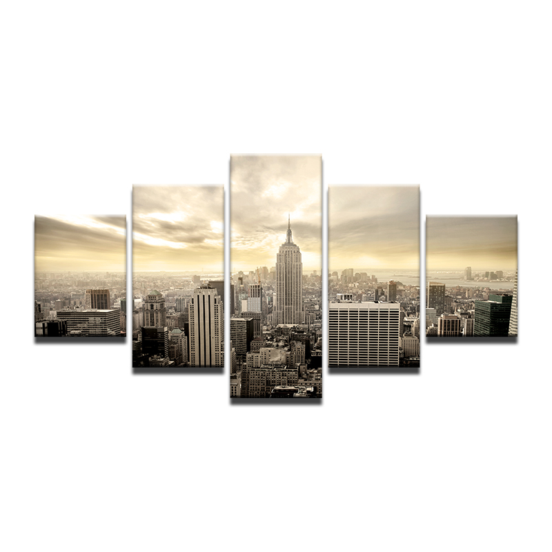 Frame New York City Photo Black White Poster Modern Canvas Painting ...