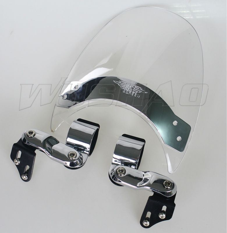 Frames & Fittings Motorcycle Windshield Windscreen For 1993-2005 Harley Dyna Wide Super Glide Fxdwg Sport Fxdx Fxd Low Rider Fxdl 98 02 03 Cheap Sales Windscreens & Wind Deflectors
