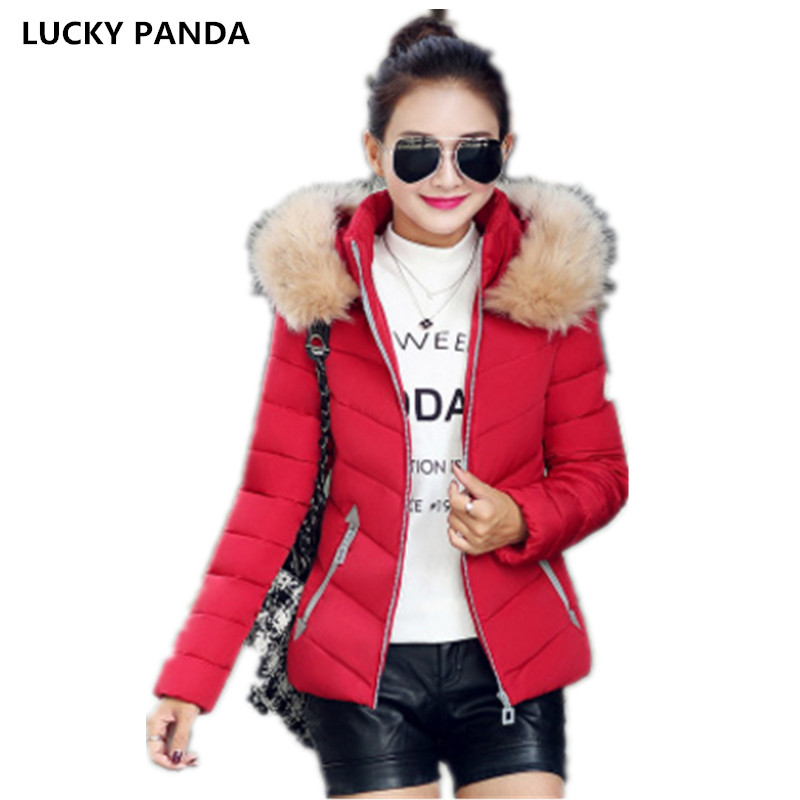 Lucky Panda 2016 autumn and winter short new feather padded female Hooded Coat LKP235 эхолот lucky ffw718li