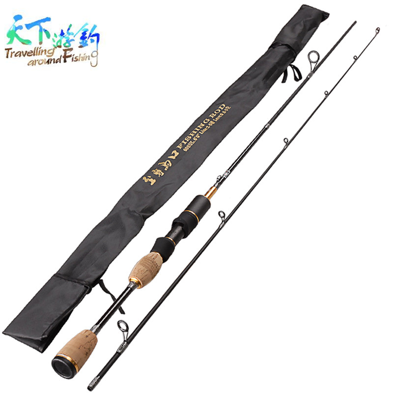 1.8m UL 2 Sections Spinning Fishing Rod Lure Weight 0.8-5g Opsariichthys Bidens Vara De Pescar Casting Fishing Pole Guides