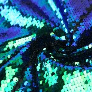 Image 5 - PYJTRL New Mens Shawl Lapel Shiny Green Blue Sequins Blazers DJ Night Club Slim Fit Suit Jacket Stage Singers Costume Prom Dress
