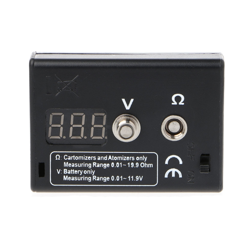 LED Display Atomizer Ohm Meter Reader Resistance Tester For RBA RDA EGO Electronic Cigarette Accessories