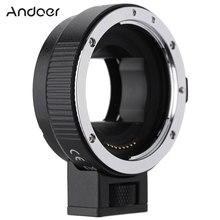 Andoer EF NEXII 자동 초점 AF 렌즈 어댑터 링 소니 NEX E 마운트 카메라 풀 프레임에 사용되는 캐논 EF EF S 렌즈 용 손떨림 방지