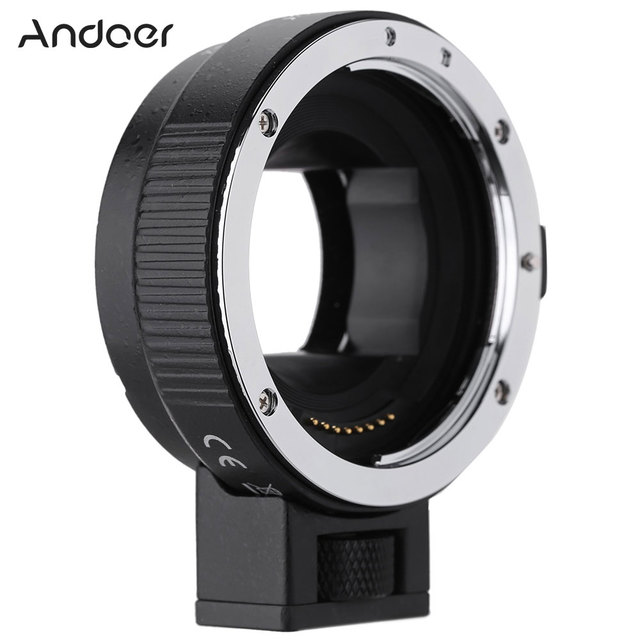 Andoer EF NEXII Auto Focus AF Lens Adapter Ring Anti Shake for Canon EF EF S Lens to use for Sony NEX E Mount Camera Full Frame