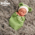 0-6 Months Handmade Knitting Cute Design Baby Beanies Hat Photo Prop Costume Sleeping Bag Set