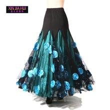 Dancewear Women Ballroom Dance Skirt Bellydance Costume Belly Waltz Skirts 4 Colour Gypsy Indian Oriental