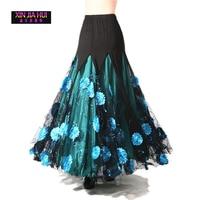 Luxurious Women Bellydance Costume Skirts 4 Colour Ballroom Dancing Gypsy Costume Skirt Belly Dance Waltz Indian Oriental