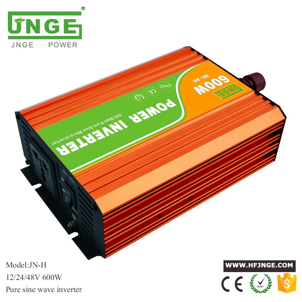 DC 12V 24V 48V to AC 110V 220V 230V high frequency inverter 600w pure sine wave peak power 1200 watt solar system inverters