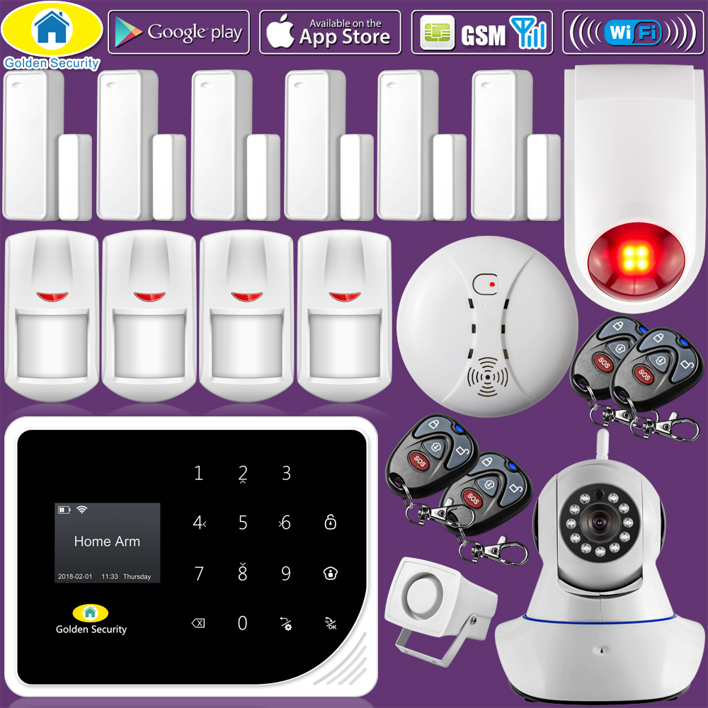 Golden Security S5 WIFI GSM 3G Alarm System Security Home GSM ...