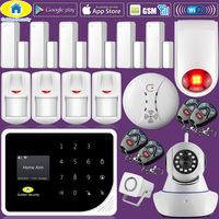 Golden Security S5 WIFI GSM Russian Spanish English 3G Alarm System Security Home GSM Alarm System