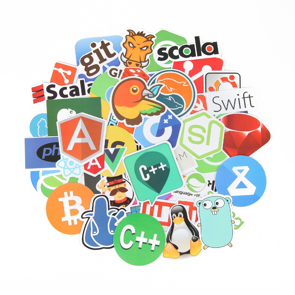 Aufkleber 102 Stücke Internet Programmierung Aufkleber Wissenschaft Js Php C Sprache Wolke Docker Entwickler Aufkleber Für Diy Laptop Telefon Auto Klassische Spielzeug