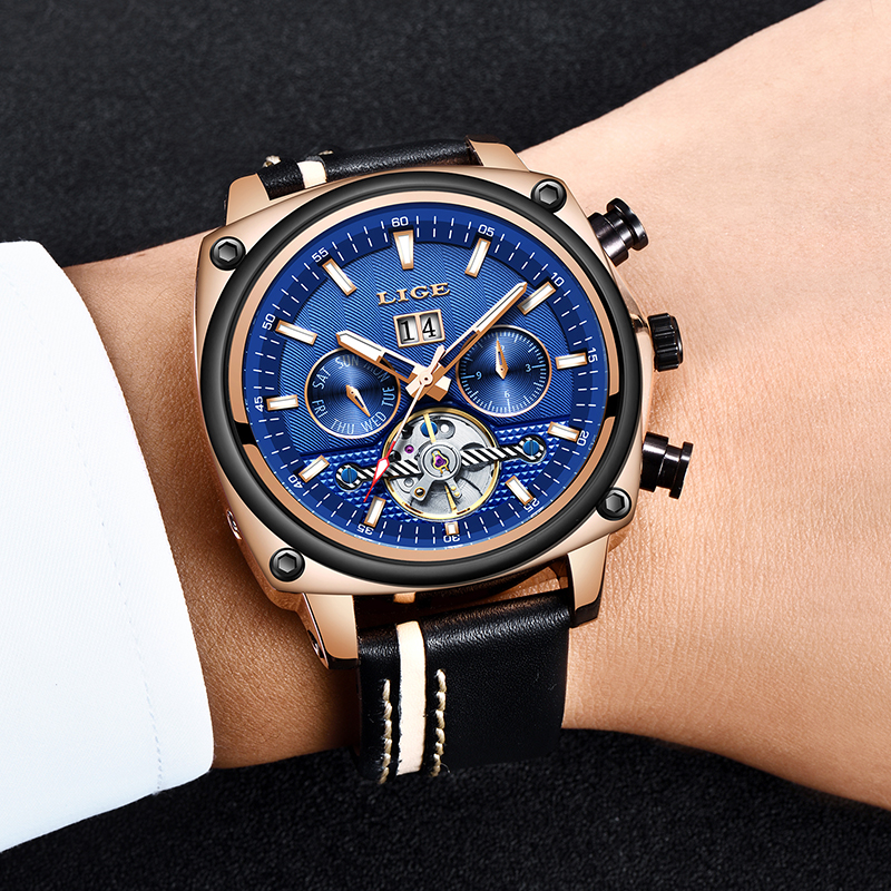 Montre Homme 2019 Men Watch LIGE Top Brand Luxury Automatic Mechanical Watch Male Fashion Leather Waterproof Sport Watch For MenMontre Homme 2019 Men Watch LIGE Top Brand Luxury Automatic Mechanical Watch Male Fashion Leather Waterproof Sport Watch For Men