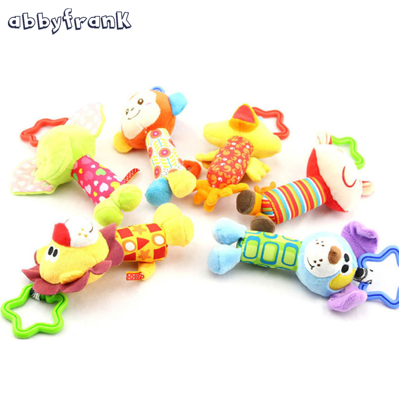 Abbyfrank dojenčke otroške klopi risane igrače klopot plišaste - Igrače za dojenčke in malčke