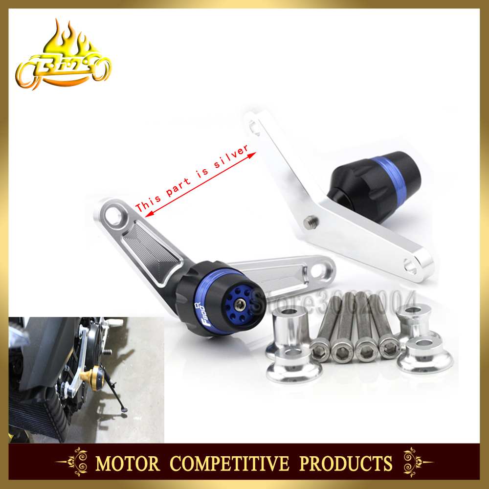 цена на Frame Slider Crash Protector Bobbins Falling Protection Mortorcycle Accessories For BMW F800R F800 2009-2014 2013 2012 2011 CNC