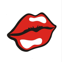 Auto Products 4Pcs Car Sticker Sexy Red lip Scratch Electric Motorcycle Body Front And Rear Bumper Creative Stickers Decorat