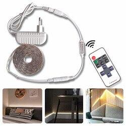 Светодиодный светильник SMD2835 с регулируемой яркостью, водонепроницаемый белый/теплый белый диммер постоянного тока, RF 10 клавиш, дистанцион...
