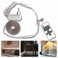 Smd2835 pode ser escurecido led luz de tira impermeável branco/branco quente dc12v controle brilho dimmer rf 10key remoto iluminação de fundo