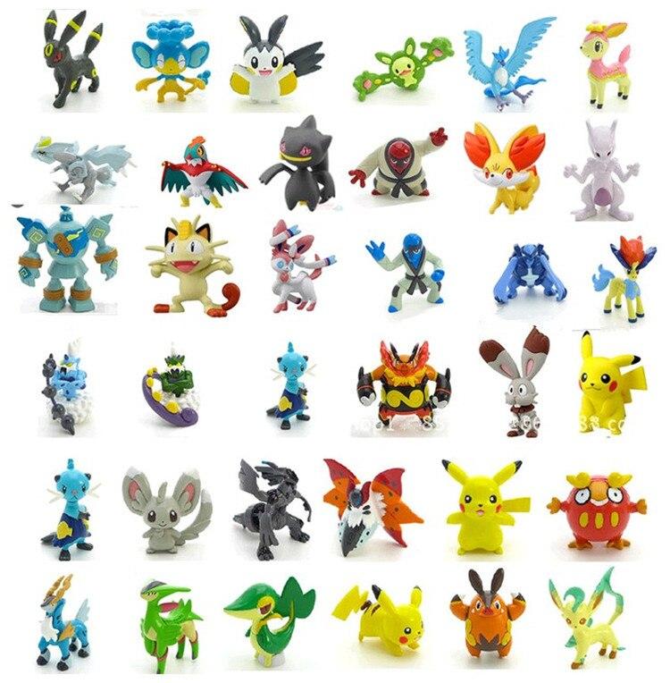 144pcs /<font><b>set</b></font> 2-3cm LPS <font><b>Poke</b></font> Go Ball Toy Cartoon Anime <font><b>Mini</b></font> <font><b>Pikachu</b></font> <font><b>Set</b></font> <font><b>Action</b></font> <font><b>Figure</b></font> Doll