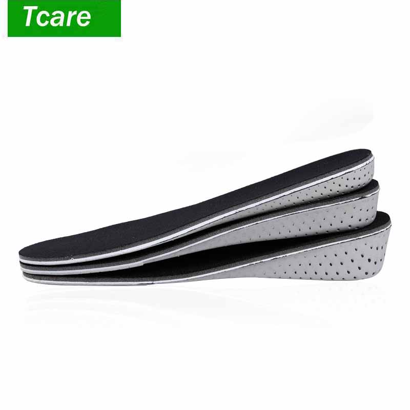 1Pair 2-4cm Unisex Height Increase Insoles Memory Foam Air Cushion Heel Lift Insert Shoe Pads Comfortable Insoles for Men Women
