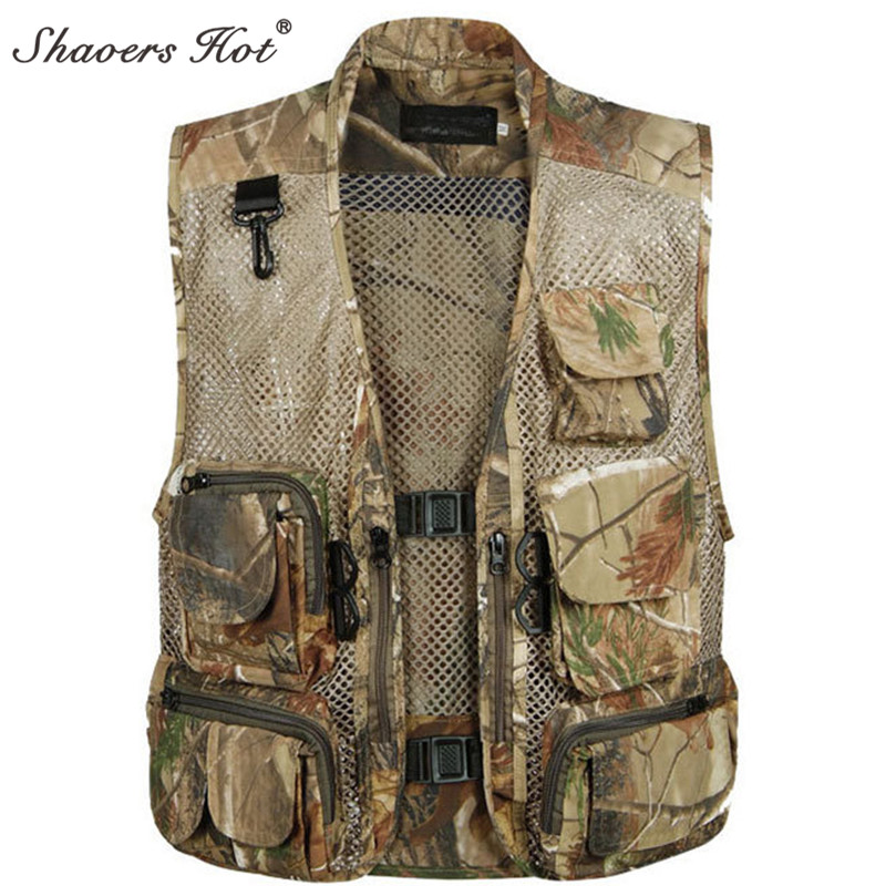 Men Camping Hunting Fishing Camouflage Jungle Denim Vest Outdoor 2016 new Military Veste ...