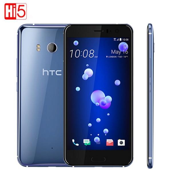 HTC U11 4 ГБ Оперативная память 64 Встроенная память Водонепроницаемый Octa Core 5.5 дюймов экран Snapdragon 835 Octa core 4 г LTE 16.0 фронтальной камерой мобильного телефона