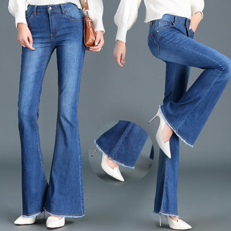 2018 sac kelly nouveaux jeans taille haute, large jambes, pantalon, fesses, jeans, jeans et les fesses des femmes