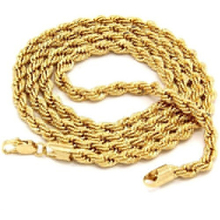 2016 New Women's Men's Charm Fashion Jewelry Goldplated Twist Chain Choker Necklace