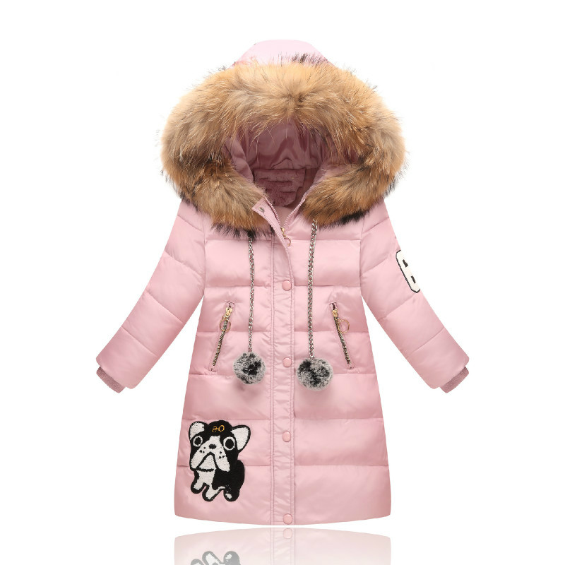 yorkzaler winter kids down jacket outerwear fashion long style fur collar parkas thicken warm white duck down coat fit for 2-15y printio юбка карандаш укороченная