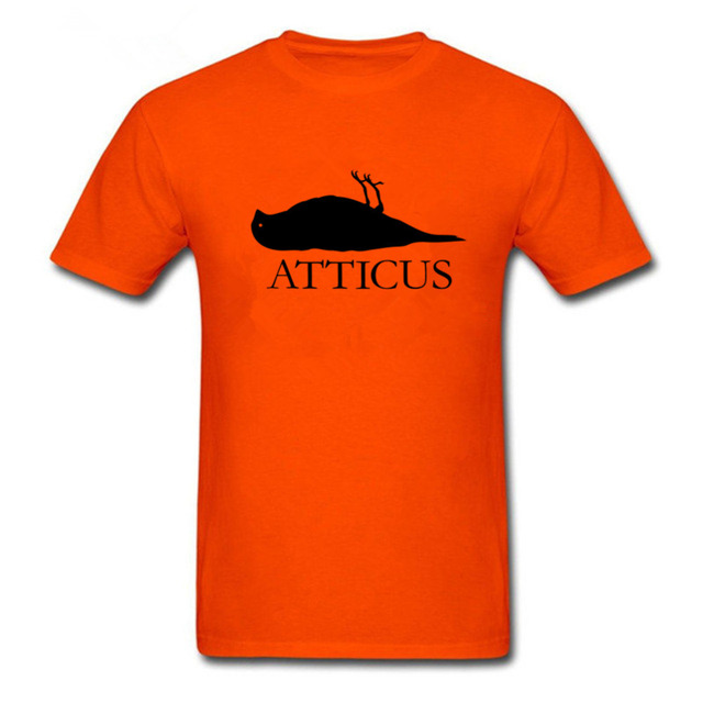 ba5bd8e134 New ATTICUS Brand Dead Bird logo T-shirt Men Alternative Casual Short  Sleeve T Shirt Top Tees Camisetas Masculinas Size XS-3XL
