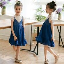 577e471ecdf9 Traje de niñas 2019 nuevos niños de verano Honda princesa vestido de dos  piezas conjunto de ropa de bebé niño adolescente Camisa.