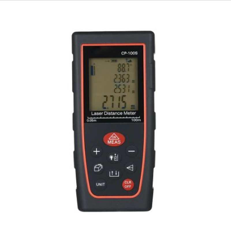 100 м Портативный ЖК-дисплей цифровой лазерный дальномер области уровня громкости угол измерения инструменты 40 м 60 м 80 м USB ленты дальномер ...