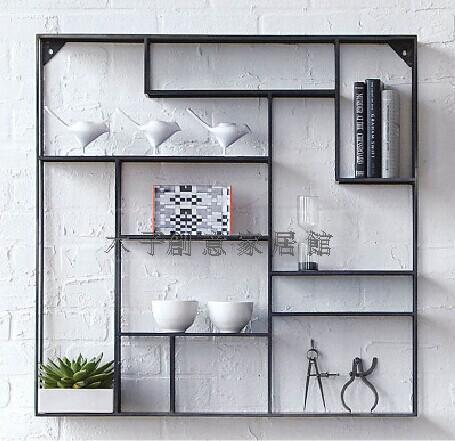 creative iron display shelf display rack on the wall show the living room wall mount shelf wall. Black Bedroom Furniture Sets. Home Design Ideas