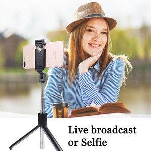 Image 2 - Bluetooth Selfie מקל חצובה להארכה חדרגל מתכוונן Selfie מקל עבור Xiaomi סמסונג מיני חצובה עבור iPhone Huawei