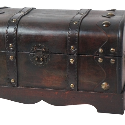 Quickway Imports QI003026 Small Pirate Style Treasure Chest pirate jack looks for treasure