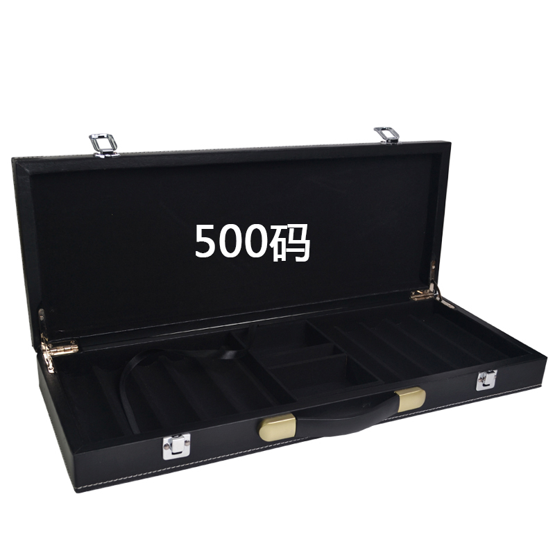 все цены на Professional good quality luxury portable black leather counter box 500 code chips yard wood box chip poker carrying cases bag