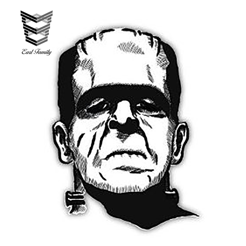 EARLFAMILY 13cm X 9.4cm Frankenstein The Modern Prometheus Sticker Decal Car Styling DIY Waterproof Car Sticker Car Accessories
