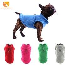 Модная зимняя одежда для собак, однотонный жилет для щенков, футболка, мягкий плюшевый костюм чихуахуа, одежда для собак, DOGGYZSTYLE