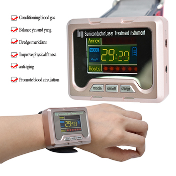 650nm Laser Therapy Wrist Diode LLLT For Diabetes Hypertension Treatment Watch Cholesterol Hypertension Cerebral Thrombosis фото