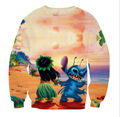 Alisister New Arrival Classic Anime Hoodies 3d Print Cute Cartoon Stitch Crewneck Pullovers Brand Mens Streetwear For Men Women