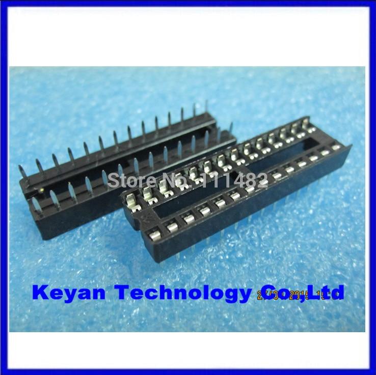 50pcs 28pin DIP IC sockets Adaptor Solder Type 28 pin Narrow body