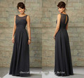 Free Shipping Vintage High Neck Gray Bridesmaid Dresses Cheap Chiffon Long Brides Maid Of Honor Vestidos De Free Shipping BD235