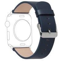 V-MORO جديد فاخر جلد طبيعي ووتش سوار لتفاح حزام استبدال رباط المعصم لآبل iwatch الفرقة 38 ملليمتر 42 ملليمتر