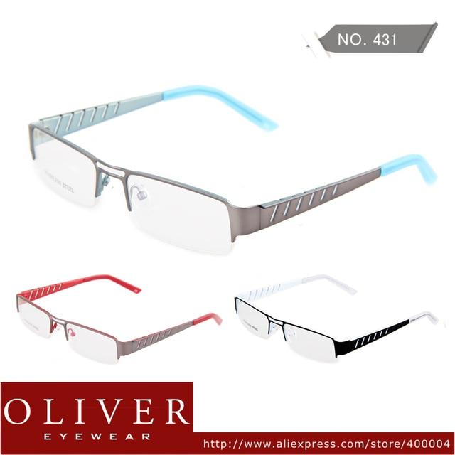 New Fashion Free Shipping Women Men High Quality Glasses Frames Metal Half Optical Frame Eyeglasses  Oliver Eyewear Brand 431