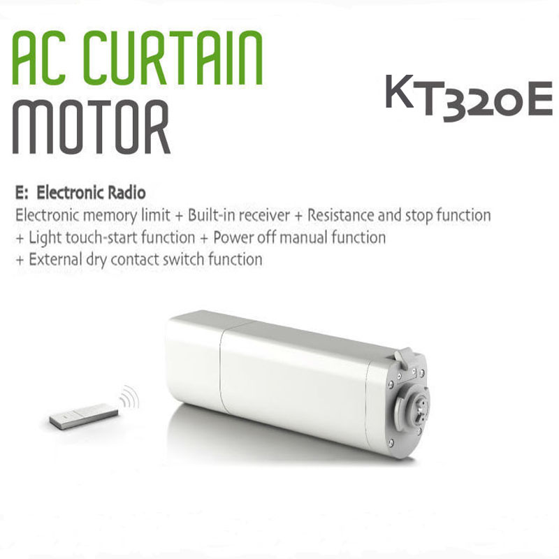 Original  Dooya Sunflower 220V 50mhz Electric Curtain Motors KT320E 45W ,75w Built -in Receiver Intelligent Mobile Control